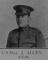 Allen J CSM DCM 6th London Regiment Cast Iron Sixth - Captain E G Godfrey 1938