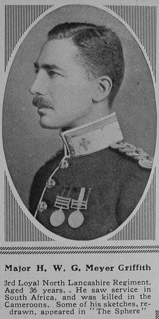 UK Photo Archive: M &emdash; Meyer-Griffith H W G Major 3rd Loyal North Lancs Regiment The Sphere 24th Jul 1915