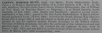 Caffyn H H Captain 1st North Staffordshire Regiment Obituary De Ruvignys Roll Of Honour Vol 1
