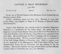 Buchanan C G Captain Indian Army Obit