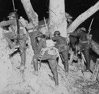 Leaving For A Night Raid At Messines Into The Darkness Of No Mans Land