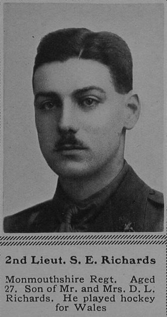 UK Photo Archive: R &emdash; Richards S E 2nd Lt 1st Monmouthshire Regiment The Sphere 25th Nov 1916