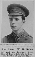 Raley W H 2nd Lt 5th York Lancs Regiment The Sphere 14th Aug 1915