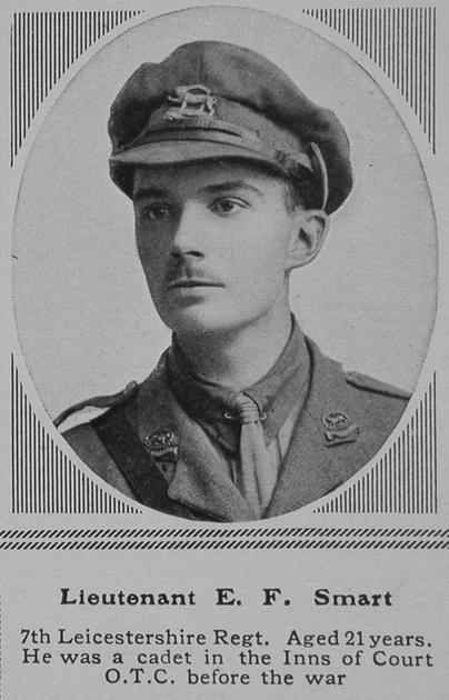 UK Photo Archive: S &emdash; Smart E F Lt 7th Leics Regt The Sphere 11th Mar 1916