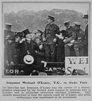 O'Leary M Sergt VC Irish Guards The Sphere 17th Jul 1915