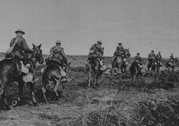 UK Photo Archive: Canadians In World War One &emdash; The Canadian Light Horse Going Into Action On Vimy Ridge