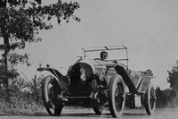 J F Duff In Action Le Mans 1924