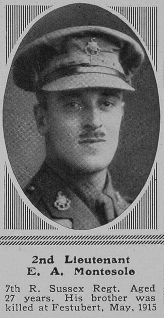 UK Photo Archive: M &emdash; Montesole E A 2nd Lt 7th R Sussex Regt The Sphere 1st Apr 1916