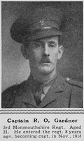 Gardner R O Captain 3rd Monmouthshire Regiment The Sphere 26th Jun 1915