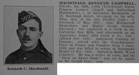 MacDonald K C Pte 8th Argyll & Sutherland Highlanders Obit De Ruvignys Roll Of Honour Vol 3