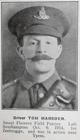 Marsden T Dvr Royal Field Artillery Hyde In War Time - Randal Sidebotham July 1916