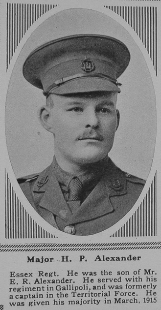 UK Photo Archive: A &emdash; Alexander H P Major 6th Essex Regt The Sphere 26th May 1917