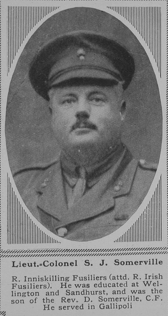 UK Photo Archive: S &emdash; Somerville S J Lt Col R Inniskilling Fusiliers The Sphere 10th Nov 1917