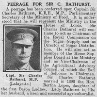 Bathurst C Captain Sir General Staff The Graphic 4th Oct 1918
