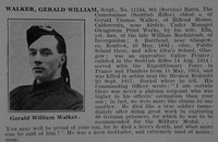 Walker G W Sergt 11344 9th Cameronians Obit De Ruvignys Roll Of Honour Vol 3