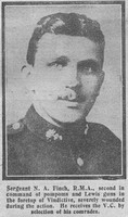 Finch N A Sergt VC Royal Marine Artillery The Graphic 24th July 1918