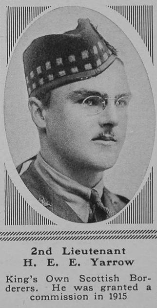 UK Photo Archive: XYZ &emdash; Yarrow H E 2nd Lt 2nd KOSB The Sphere 5th May 1917