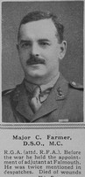 Farmer C Major DSO MC RGA The Sphere 10th Nov 1917