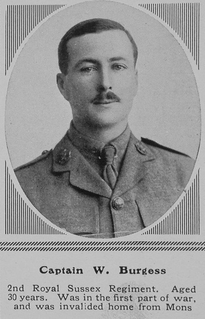 UK Photo Archive: B &emdash; Burgess W Captain 2nd R Sussex Regt The Sphere 27th Nov 1915