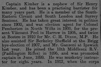 Kimber E G Captain DSO 13th London Regiment 2 The Graphic 8th July 1915