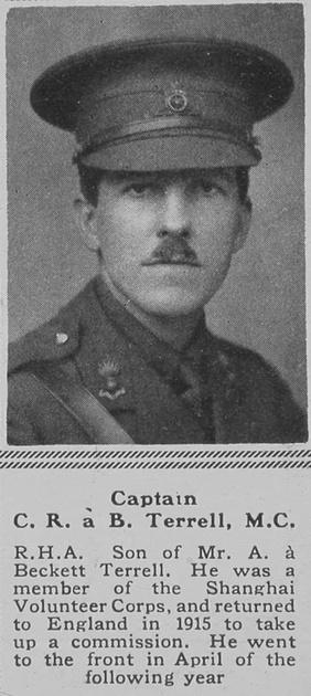 UK Photo Archive: T &emdash; Terrell C R a B Captain MC RHA The Sphere 4th Aug 1917