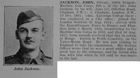 Jackson J Pte MGC Obit De Ruvignys Roll Of Honour Vol 3