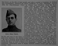 Clark E A 2nd Lt Royal Flying Corps Obit Part 2 De Ruvignys Roll Of Honour Vol 4