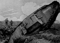 A Tank With The Name Hyacinth Seen Temporarily Trapped In The Second Trench Sstem Of The Hindenberg  Line