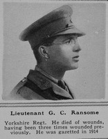 Ransome G C Lt Yorkshire Regt The Sphere 20th Apr 1918