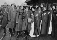 A Party Of British Red Cross Nurses About To Depart For Service At The Front
