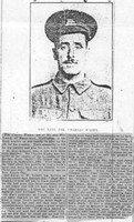 Wadey C Pte 1473 7th The Queen's (Royal West Surrey Regiment) Newspaper Photo Croydon Advertiser 14th Jan 1916