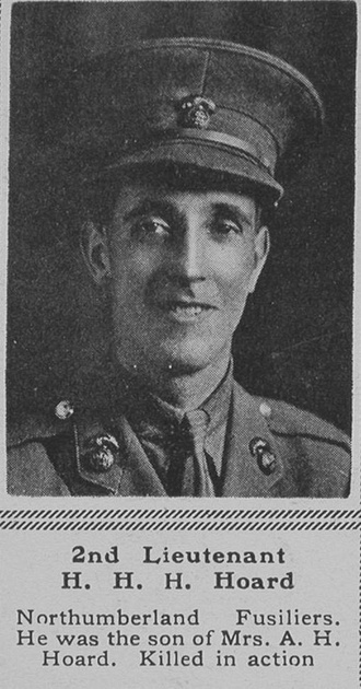 UK Photo Archive: H &emdash; Hoard H H H 2nd Lt Northumberland Fusiliers The Sphere 24th Nov 1917
