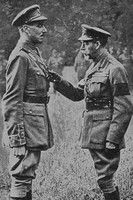 2nd Lt C L Knox Royal Engineers Receiving His VC From The King
