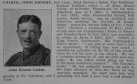 Calkin J E 2nd Lt 22nd Northumberland Fusiliers Obit De Ruvignys Roll Of Honour Vol 3