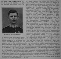Innes W B Coy Sergt Major 1st Seaforth Highlanders Obit De Ruvignys Roll Of Honour Vol 3