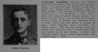 Taylor A Pte 12415 14th York & Lancs Regiment Obit De Ruvignys Roll Of Honour Vol 3