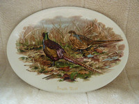 Large Oval Plate Clyde Ceramics Scotland Pheasants South Uist