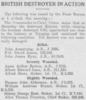 Casualty List The Graphic 25th Aug 1914