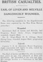 Casualty List The Graphic Wounded 25th Aug 1914