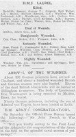 Casualty List The Graphic 31st Aug 1914 Heligoland Part 2