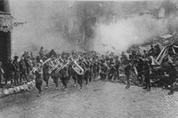 Australian Troops Marching Into Bapaume