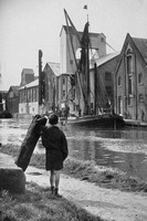 Barges And Warehouses On The Colne Essex 1940s