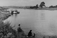 Fishing At The Trent At Stoke Bardolph Nottinghamshire c.1950