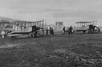 British Biplanes About To Leave For The Attack On The Zeppelin Factory And Sheds At Friedrichshafen