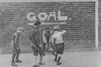 Boys Playing Football In The East End 1920s