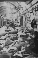 A Scene At Picadilly Underground Station In September 1940 Of People Taking Refuge From German Bombs