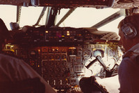 Flight Deck Of British Airways Concorde 1979