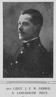 Gebbie J E R 2nd Lt South Lancs Regiment The Illustrated London News 31st Oct 1914