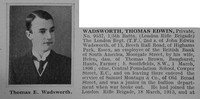 Wadsworth T E Pte 5th London Regt Obit Part 1 De Ruvignys Roll Of Honour Vol 1