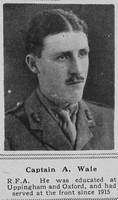 Wale A Captain RFA The Sphere 20th July 1918